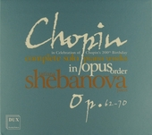 Complete solo piano works in opus order : Op.62-70