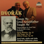 30 songs transcribed by Josef Suk