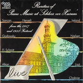 Rarities of piano music at Schloss vor Husum : From the 1987 and 1988 festival