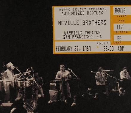 Authorized bootleg : Warfield Theatre februari 27, 1989