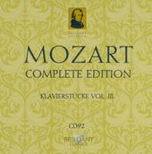 Mozart complete edition. CD 92, Klavierstücke, Vol. III