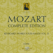 Mozart complete edition. CD 94, Keyboard music for four hands, Vol. II
