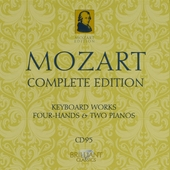 Mozart complete edition. CD 95, Keyboard music for four hands and two pianos