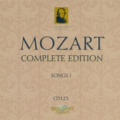 Mozart complete edition. CD 125, Songs I