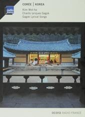 Corée : chants lyriques Gagok