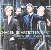 String quartets K.387 & 458 : dedicated to Joseph Haydn
