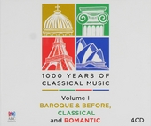 1000 years of classical music : Volume I baroque & before, classical and romantic. vol.1
