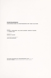 Discourses : conversations in postmodern art and culture