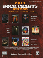 2011 rock charts guitar : the biggest hits, the greatest artists