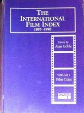 The international film index 1895-1990