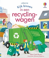 In een recyclingwagen