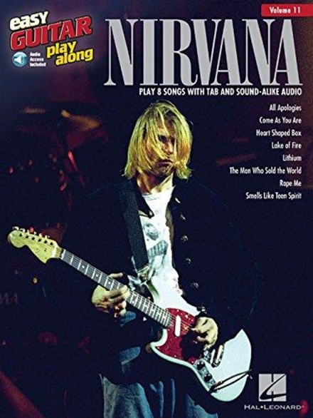 Nirvana : play 8 songs with tab and sound-alike audio