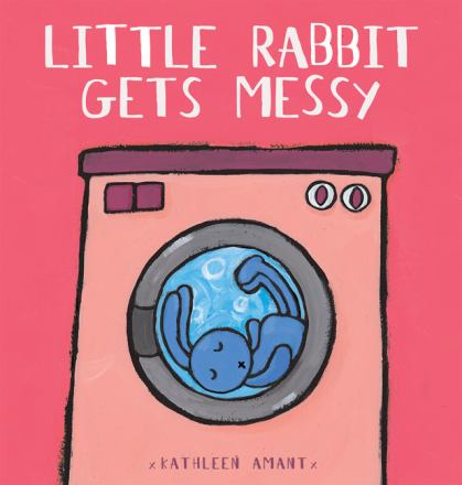 Little rabbit gets messy