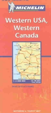 Western USA, Western Canada : motoring and tourist map