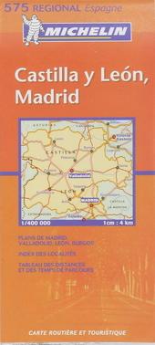Castilla y León, Madrid : carte routière et touristique