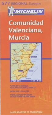 Comunidad Valenciana, Murcia : carte routière et touristique