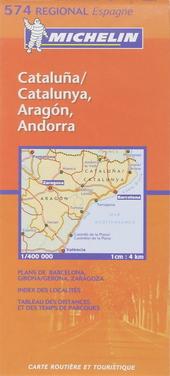Cataluña Catalunya, Aragón, Andorra : carte routière et touristique