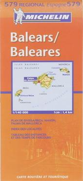 Balears, Baleares : carte routière et touristique