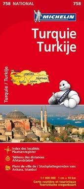 Turquie : carte routière et touristique