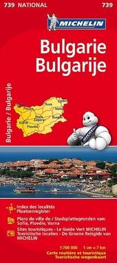 Bulgarie : carte routière et touristique