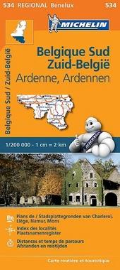 Belgique Sud, Ardenne : carte routière et touristique
