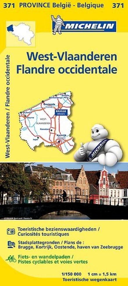 West-Vlaanderen : toeristische wegenkaart