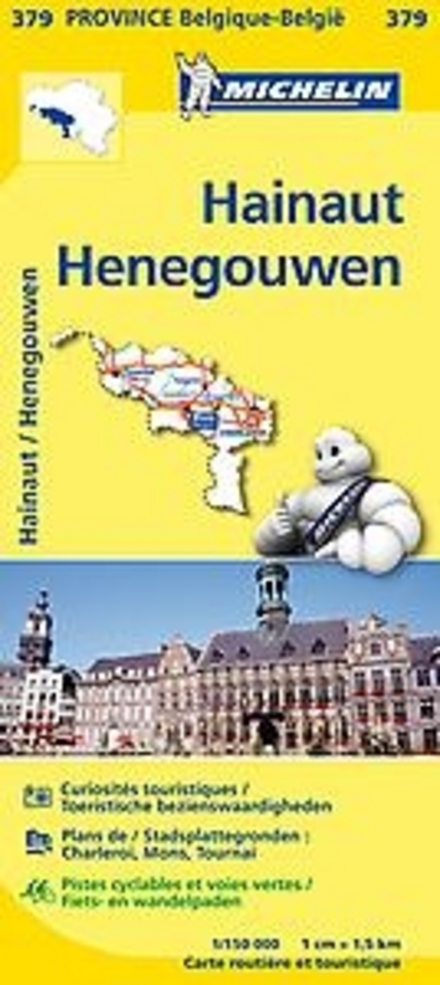 Hainaut : carte routière et touristique