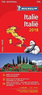 Italie : carte routière et touristique