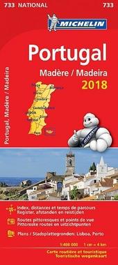 Portugal, Madère : carte routière et touristique