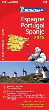Espagne, Portugal : carte routière et touristique