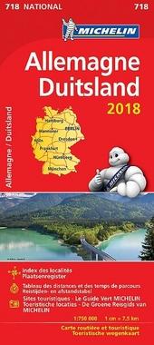 Allemagne : carte routière et touristique