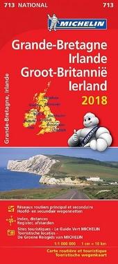 Grande-Bretagne, Irlande : carte routière et touristique