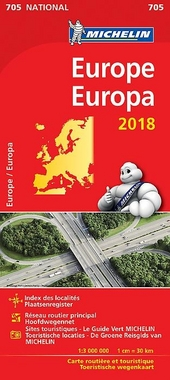 Europe : carte routière et touristique