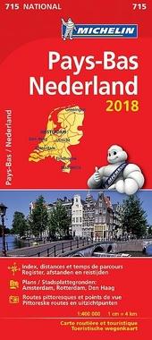 Pays-Bas : carte routière et touristique