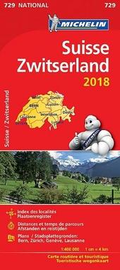 Suisse : carte routière et touristique