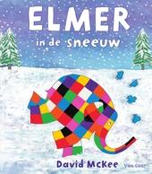 Elmer in de sneeuw