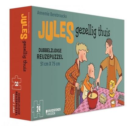 Jules gezellig thuis : dubbelzijdige reuzenpuzzel