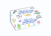 De quiz over wetenschap en uitvindingen : doos met boek en kaarten
