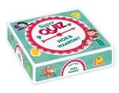 Superquiz hoe & waarom? : box met boek,100 quizkaarten, draaischijf en zandloper
