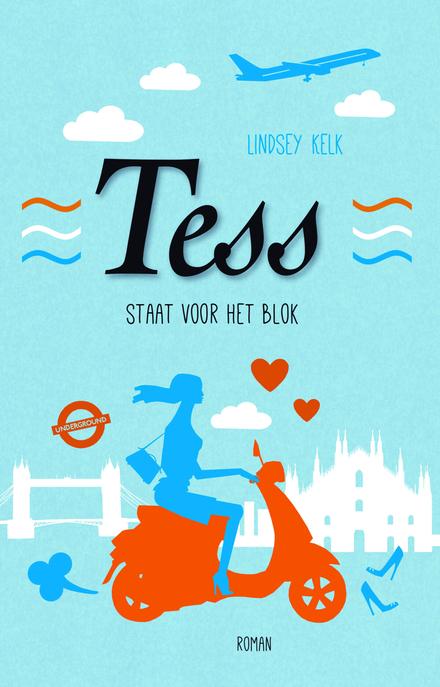 Tess staat voor het blok