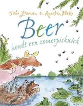 Beer houdt een zomerpicknick