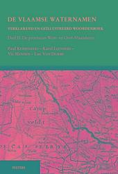 De Vlaamse waternamen : verklarend en geïllustreerd woordenboek. Deel II, De provincies West- en Oost-Vlaanderen