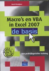 Macro's en VBA in Excel 2007 : de basis