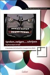 Spreken, zwijgen,... schrijven : psychoanalyse en taal