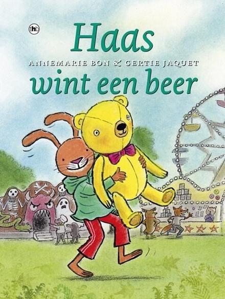 Haas wint een beer
