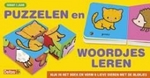 Puzzelen en woordjes leren : kijk in het boek en vorm 6 lieve dieren met de blokjes