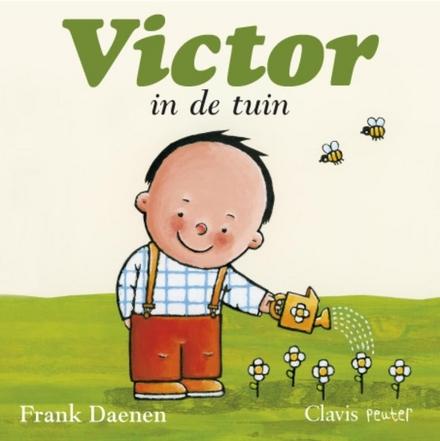 Victor in de tuin