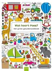 Wat hoort poes? : het grote geluidenzoekboek