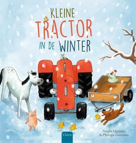Kleine tractor in de winter