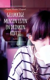 Gelukkige mensen lezen en drinken koffie